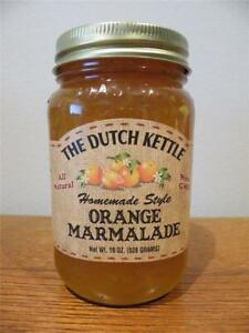 Dutch Kettle All Natural Homemade Orange Marmalade Jam 19 oz Jar