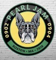 PEARL JAM: Official Boston Terrier Event Button 2018 Boston Fenway Park