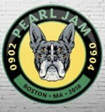 PEARL JAM: Official Boston Terrier Event Button 2018 Boston Fenway Park