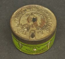 Antique Vtg Yale Mixture Smoking Tobacco Tin American Tobacco Co Indian Marburg