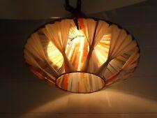 ABAT JOUR A BANDES NYLON VINYL LAMPE LAMPADAIRE LUSTRE APPLIQUE VINTAGE 50 60 s