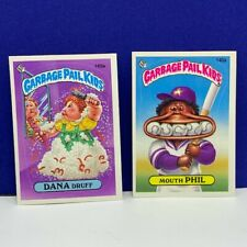Garbage Pail Kids topps imperial trading cards 1986 vtg Mouth Phil Dana Druff
