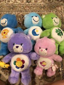 """care bears plush lot Of 5 Champ Bedtime Good Luck Friendship Baby Hugs 2000s 11"""""""