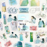 46Pcs/Box Kawaii Stationery Stickers Journal Stickers Kids DIY Diary Supplie NGV