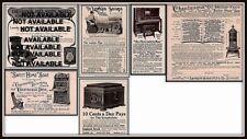 5 1890'S - 1914 Larkin Chautauqua Oil Heater Piano Furniture Symphonola Ads