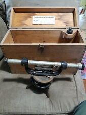 Vintage L S Starrett 101-C Telescoping Leveling Transit Survey Instrument w/Case
