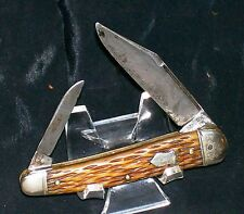 "Schrade Cut No.7793-3/4 Sleeveboard Serpentine Knife 3-1/4"" Cl. Circa-1932 Rare"