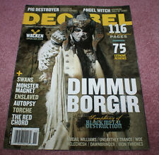 DECIBEL Magazine #73 Dimmu Borgir Pig Destroyer Angel Witch Swans Monster Magnet