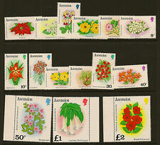 ASCENSION ISLAND :1981  Flowers  definitives  SG 282A-96A unmounted mint