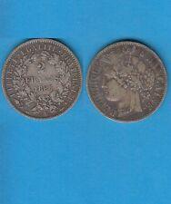 Gertbrolen 2 Francs argent Cérès  1887 Paris Exemplaire Numéro 3