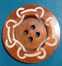 60mm Coffee Brown Wooden Patterned Buttons- Australian Supplier