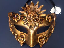 Gold Warrior Roman Greek Sun God Venetian Masquerade Ball Custome Party Mask Men