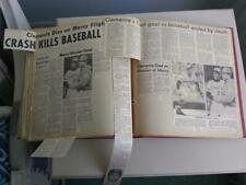 1970's Baseball Newspaper Scrapbook Album - 85+ Double Side Pages of Articles!