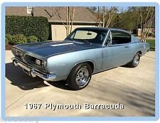 1967 Plymouth Barracuda Auto Refrigerator / Tool Box Magnet