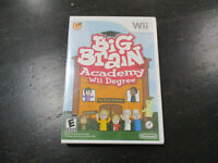 NEW Big Brain Academy Wii Degree Nintendo Wii Video Game Educational SEALED