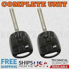 2 For 1997 1998 1999 2000 2001 2002 2003 2004 2005 GS300 Remote Car Key Fob