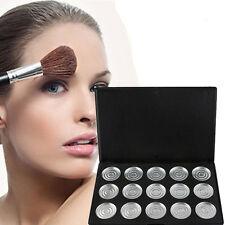15PCs/Box 26mm vuoto magnetico Cosmetici Trucco Ombretto Palette padelle in alluminio