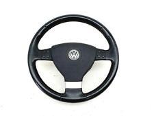 Volkswagen Golf Mk5 2005 To 2009 Leather Multifunction Steering Wheel + Airbag