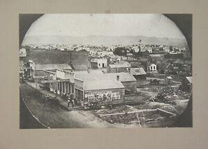 1869 WINONA MINNESOTA BIRDS-EYE-VIEW CARD MOUNT PHOTO LARGE CIRCUS BROADSIDE