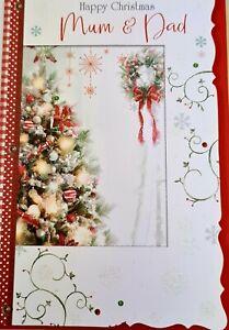 Happy Christmas Mum and Dad Christmas Card