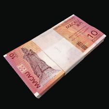 Lot 100 PCS, Macau Macao 10 Patacas, 2010-2013, P-80, BNU, Banknotes, UNC