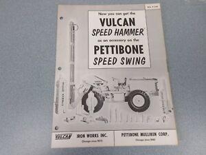 Rare Pettibone Speed Swing Vulcan Speed Hammer Sales Brochure