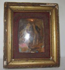Cadre photo verre bombé bois doré Napoléon III antique french XXème french frame