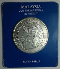 1986 - 1990  Malaysia 25 ringgit silver coin, The Singapore mint