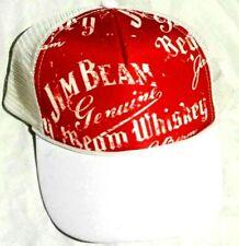 JIM BEAM Whiskey Snap Back Baseball Cap Red / White VGC