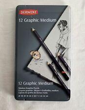12 x DERWENT Graphic Medium Graphite Pencils #34214 Barely Used Different HB's