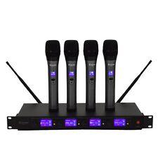 Costzon 4 Channel VHF Handheld Wireless Microphone System w/4 Mics