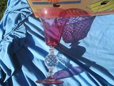 """VINTAGE PAIRPOINT CRANBERRY RED CLEAR  CONTROLLED BUBBLE VASE 11.75"""""""