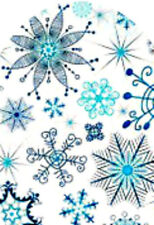 20 water slide nail new art decals DIY Manicure Teal blue snow flake full nail