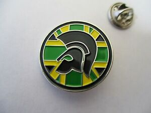 TROJAN ska reggae metal badge (round, jamaica colours on silver)