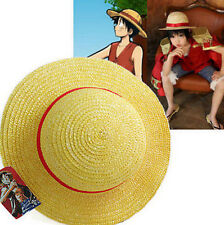 FD3465 □ One Piece Luffy Anime Cosplay Straw Boater Beach Hat Cap Halloween Gift
