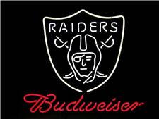Neon Signs Budweiser Oakland Raiders Beer Bar Pub Store Room Wall Decor 19x15