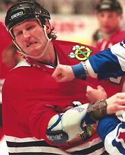 BOB PROBERT 8X10 PHOTO HOCKEY CHICAGO BLACKHAWKS PICTURE NHL FIGHT