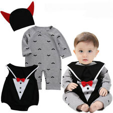 UK Halloween Vampire 3pcs Baby Boys Costume Romper Jumpsuit Infant Photo Outfits 3-6 Months