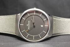 NWT Skagen Matthies Titanium Grey Stainless Steel Mesh Men's Watch SKW6140