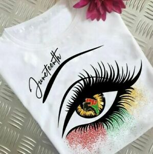 Juneteenth Eye African Afro American Melanin Black Month Gift T Shirt Size S-3XL