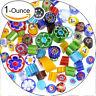 90 COE Fusible Glass Beads Rainbow Mix Handmade Millefiori for Mosaic 28g UK