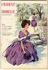 Modezeitschrift, 60er: FROHNE Modelle, Frühj./ Sommer 1960, m. Schnittmustern.
