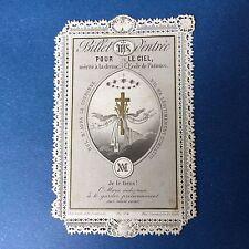 CANIVET Letaille 274 - Billet d'Entrée XIXè Image Pieuse HOLY CARD 19thC Santino