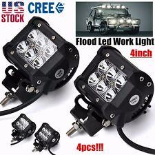 4x 4inch 18W Cree Led Work Light Bar Flood Off-road SUV Boat Jeep Lamp Truck 3