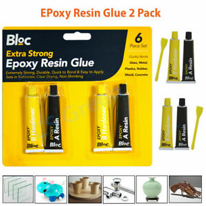 Epoxy Strong Glue 2 Pack Clear Adhesive Bond Repair Ceramic Rubber Glass Plastic