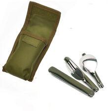 Posate Da Campeggio Pieghevoli Tascabili Con Astuccio Forchetta Coltello 494