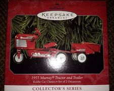 "MURRAY TRAC PEDAL TRACTOR W CART 1999 HALLMARK ""1955 TRACTOR TRAILER"""