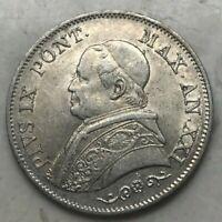1866 Italy Italian Papal States 1 One Lira - Great Coin!