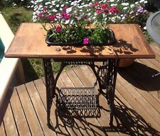 ANTIQUE SINGER SEWING MACHINE REFURBISHED INTO A PLANTER STAND