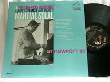 MARTIAL SOLAL at Newport '63 Paul Motian Teddy Kotick RCA mono dg LP
